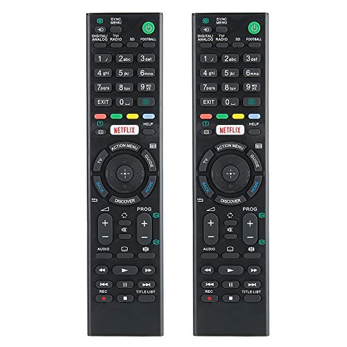 Heayzoki Controladores remotos de TV, 2 Controles remotos de TV para el hogar, reemplazo de Control Remoto para Sony...