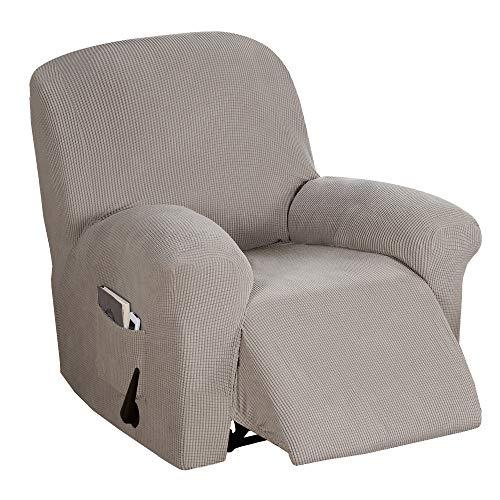 BellaHills Verstellbarer Sofabezug 1-teilig, rutschfest, weich, hochelastisch, Lycra-Jacquard, Schonbezug, formschlüssig, Möbelbezug Verstellbarer Sofabezug, maschinenwaschbar - Taupe
