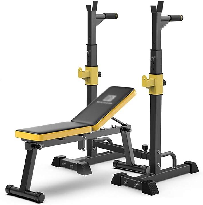 Panca piana set panca cremagliera bilanciere consiglio di attrezzature per il fitness -panche standard B086HFN44T