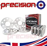 2 Pairs of Hubcentric Wheel Spacers with 20 Bolts for Genuine Wheels 15mm Aluminium 5x100-5x112 5*Stud 57.1mm M14x1.5x40mm