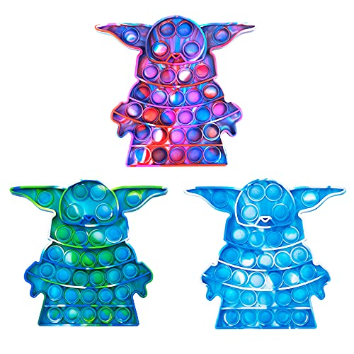 LZJZ Tie-dye Silicone Push Pop Bubble Fidget Toy, Autism Special Needs Stress Reliever, Squeeze Sensory Toy Relieve Emotional Stress for Kid Adult (C1)