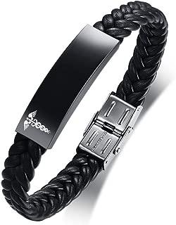 Tressé en Cuir Hommes Bracelet Personnalisé Legend of Zelda Triforce réglable