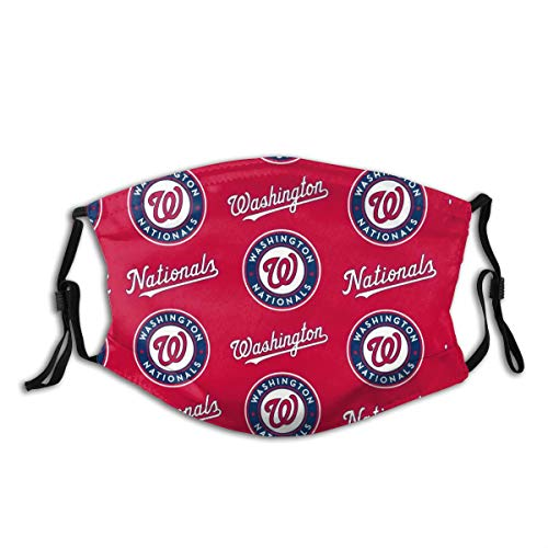 Nationals-Washington Outdoor Mask,Protective 5-Layer Activated Carbon Filters Adult Men Women Bandana