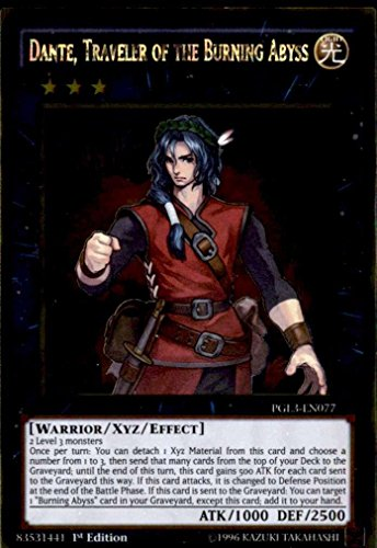 Yu-Gi-Oh! - Dante, Traveler of the Burning Abyss (PGL3-EN077) - Premium Gold: Infinite Gold - 1st Edition - Gold Rare by Yu-Gi-Oh!