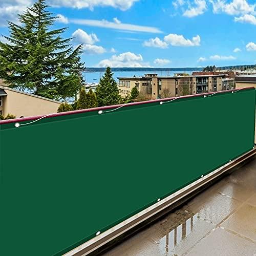 Copertura per Balcone 80x600cm, Copri Ringhiera Balcone, Resistente al Vento Giardino Telo di Rivestimento e Protezione, per al Giardino, Balcone, Tetto, aiuola, Cortile.