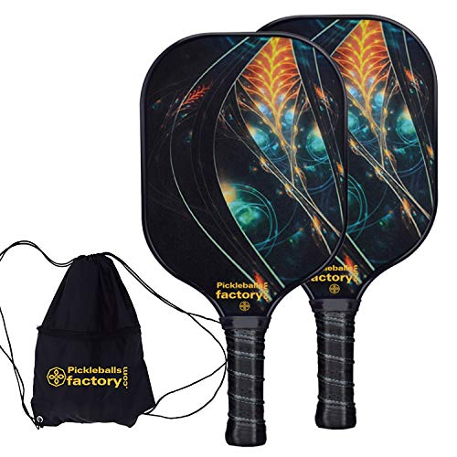 Pickleball Paddles, Pickleball Paddle, Pickleball Paddle Set of 2 Picklelball Rackets, Mystery Power Pickleball Bag Women Men Youth Teens Outdoor And Indoor Ball Game Set in Beach Court Club