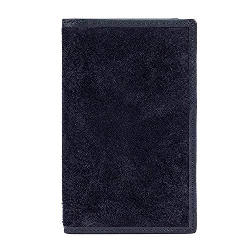 Hackett London N Hill - Tarjetero de piel para hombre, color azul marino
