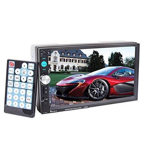 Autoradio 2 DIN Pouces HD Ecran Multimedia 12V Support RDS Radio FM / USB / SD / MMC / MP5 , Audio Bluetooth pour des Appels Mains Libres avec Télécommande sans Caméra de Recul