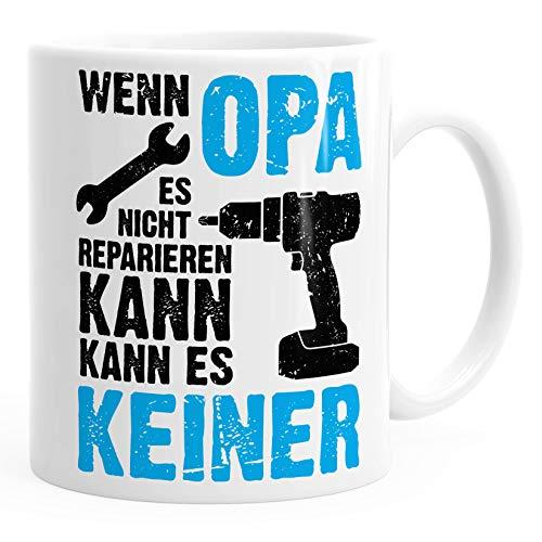 Wenn Opa es nicht reparieren kann kann es keiner Kaffee-Tasse MoonWorks® weiß unisize