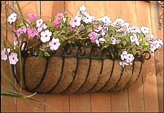 Standard Scroll Hay Rack Window Basket w/Coco Liner - 24 Inch