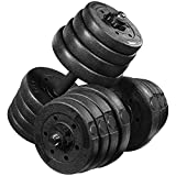 MOVTOTOP Adjustable Dumbbells Set 66LB, Solid Dumbbell Weights-Non-Slip Dumbbells Set with Easy-Adjusting Hexagon Nut-Safe and Durable Dumbbells Set for Men and Women