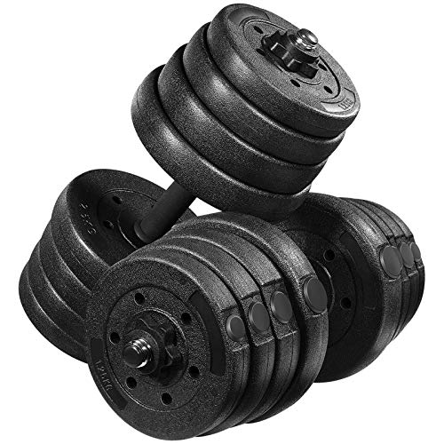 MOVTOTOP Adjustable Dumbbells Set 66LB, Solid Dumbbell Weights-Non-Slip Dumbbells Set with Easy-Adjusting Hexagon Nut-Safe and Durable Dumbbells Set for Men...