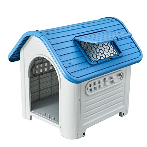 SENYEPETS Outdoor Indoor Plastic Dog Houses