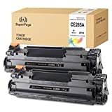 Superpage reemplazo para HP 85A CE285A Cartuchos de tóner para HP Laserjet Pro P1102 P1102W M1212NF M1214NFH MFP M1217NFW M1132 M1210 M1130,(2xNegro)