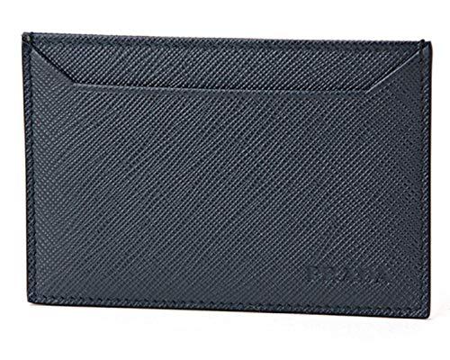Prada Baltico Navy Saffiano Men's Leather Wallet Credit Card Holder Case Bill 2MC208