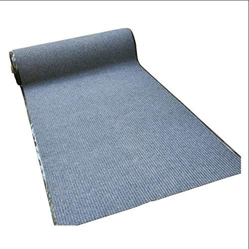 DT-DT Läufer Teppiche Flur,Teppich Küchenläufer,Mischfaser-PVC-Boden,Wasseraufnahme rutschfest,Rot/Dunkelrot/Grau,1m2m3m4m5m (Color : Gray, Size : 0.9x1m)