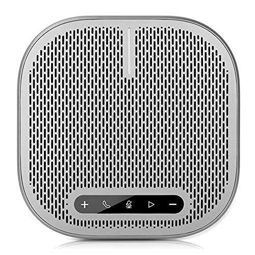 AWOW Bluetooth Konferenzlautsprecher USB Freisprecheinrichtung, Eingebaute 4 Mikrofone 360º Omnidirektionales Spracherkennung, 24 Std Gesprächszeit, für 6-12 Personen Business Konferenz
