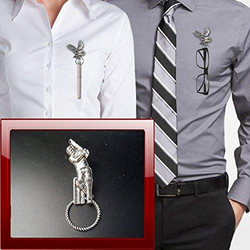 prideindetails Cricketer S6 Zinn Brosche Tropfenhalter für Brillen, Stift, ID, Schmuck