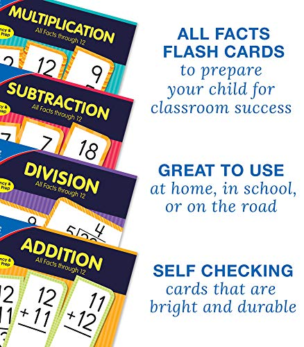 Carson Dellosa Multiplication Flash Cards—Grades 3-6 Double-Sided Cards, Multiplying Select Factors through 12, Elementary Mathematics Practice (54 pc)