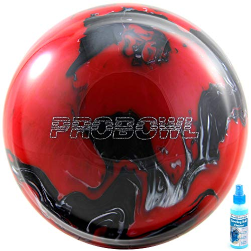 Bowling Ball Pro Bowl red Black Silver und Cleaner (15)