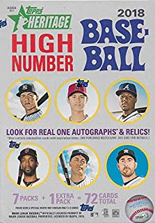 2018 Topps HERITAGE High Number Series MLB Baseball Unopened Blaster Box with a Chance for Rookie Cards and Autographs plus EXCLUSIVE 1969 Bazooka All Time Greats Found only in this Product
