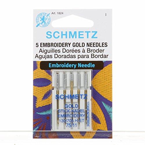 Schmetz - Agujas de bordar para máquina de coser, titanio
