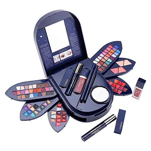 Magent Complet Kit De Démarrage Essentiel De Maquillage Ensemble De Maquillage avec Fard À Paupières/Rouge À Lèvres/Fard À Joues/Mascara/Crayon À Sourcils pour Femmes Filles