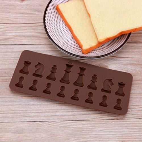 BESTONZON 16 Gitter Silikon Eiswürfelform Schach Form Kuchenform für Kuchen Gelee Süßigkeiten Schokolade DIY Bakware Dekorieren
