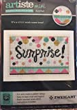 Artiste Mini Counted Cross Stitch Card Kit - Surprise