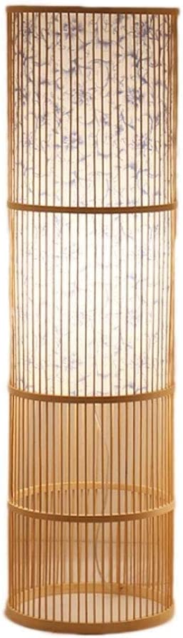 YAZHUANG8 store Floor Lamps Super beauty product restock quality top for Living Bamboo Handmade Chinese Room We