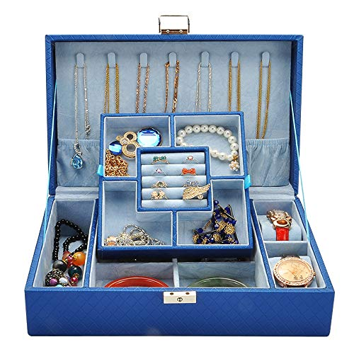 zhenfa Schmuck Kassette Schloss Prinzessin Europäische Box Schmuck Box Schmuck Box Kosmetikbox Make-up Schmuckschatulle Reisen Multi-Layer-STO Wut-Box (Platzierung Dekoration)
