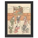 Printed Paintings Marco Americano (70x100cm): Ishikawa Toyomasa - El décimo Mes