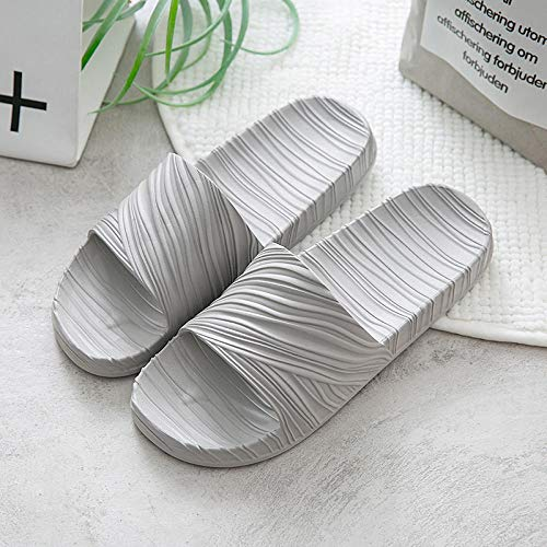 B/H Unisex Bath Slippers,EVA thick bottom non-slip slippers, indoor home massage soft mop-Light gray_UK9-UK9.5,Slim Glamour Flip Flops