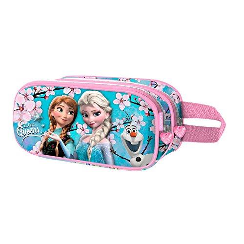 Die Eiskönigin (Frozen) Sister Queens-3D Doppelfedermäppchen Astuccio, Blu, poliestere