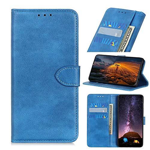 Wuzixi Hülle für Wiko Lenny 4 Plus. [Kartenfach] PU Leder Flip Wallet, mit Standfunktion, Schutzhülle handyhüllen für Wiko Lenny 4 Plus.Blau