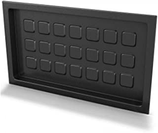 Crawl Space Recessed Foundation Vent Cover - Black (For 8