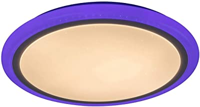 IP 20 Deckenlampe LED Deckenleuchte Sternenlicht Farbtemperatursteuerung dimmbar mit Fernbedienung /Ø60cm rund