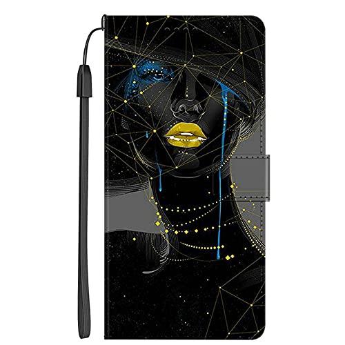 Hongjian - Funda para Xiaomi Redmi 5 Plus PU Cuero Flip + TPU Soft Silicona Case Cover