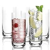[6-Pack,395ML/13.5 Oz] Design•Master -Hochwertige Highball-Gläser, Schweres Basis Hochbarglas, Trinkgläser für Wasser, Saft, Bier und Cocktail.