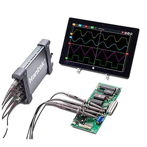 NO BRAND Osciloscopio Digital 6204BC Digital osciloscopios 200MHZ 1GSa / s 4CH Windows 10/8/7 con Interfaz USB sonda Manual (Color : Negro, tamaño : Un tamaño)