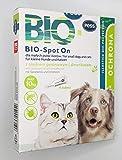 BIO-Spot On 4 pipetas I Remedio natural contra garrapatas y pulgas I Protección contra garrapatas para perros y gatos de base biológica para perros y gatos pequeños