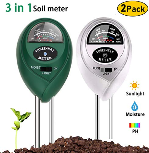 Review Xergur Soil Ph Moisture Meter - Soil Plant Moisture Meter, 3-in-1 Soil Gardening Kit with Moi...