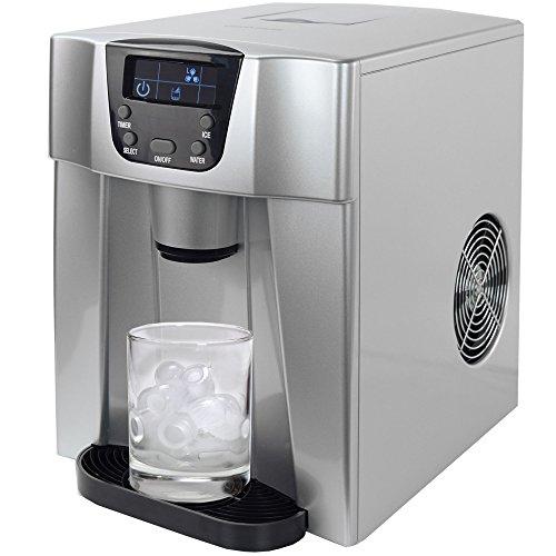 Gino Gelati GG-500 Water Digitaler Eiswürfelbereiter mit Eiswasserfunktion Eiswürfelmaschine