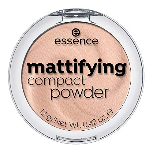essence mattifying compact powder, Puder, Nr. 11 pastel beige, nude, für Mischhaut, für trockene Haut, für unreine Haut, mattierend, matt, vegan, Nanopartikel frei, 3er Pack (3 x 12g)