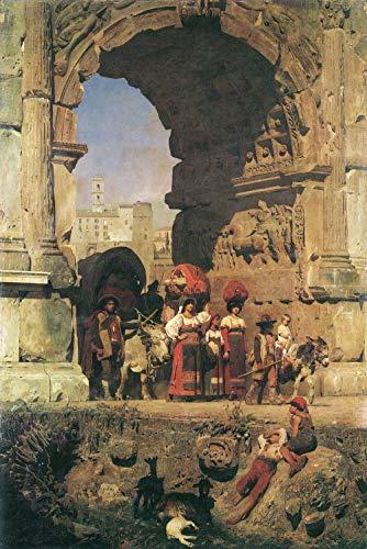 Kits de pintura de números Pintura académica El arco triunfal de Tito en Roma para principiantes sobre lienzo