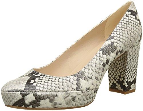 Unisa Numar_18_vp, Zapatos de tacón con Punta Abierta para Mujer, Multicolor (Nacar), 38 EU