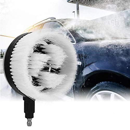 NOBGP Rotary Car Wash Brush, 360 Degree Rotation Fan Shaped High Pressure Car Cleaning Brush, Super Soft Hair, for Cleaning Car/Glass/Wood Floor/Window