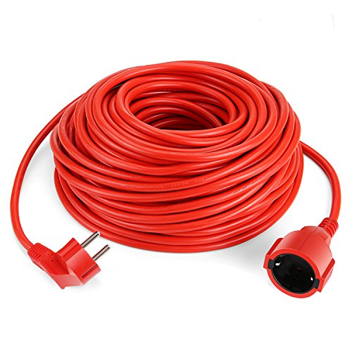 SIMBR Alargador Electrico 30m Cable de Corriente IP20 H05VV para Exteriores Prolongador...