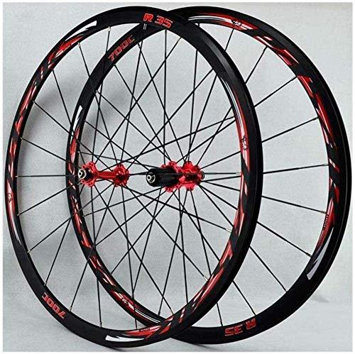 Ruedas De Bicicleta,llantas bicicleta Ruedas de bicicleta 700C, bicicleta de carretera Ruedas de 30 mm Rueda de bicicleta de pared doble de la aleación del camino de lanzamiento ruedas de la bici de B