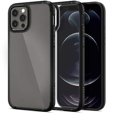 Spigen Ultra Hybrid Back Cover Case Designed for iPhone 12 | iPhone 12 Pro - Matte Black